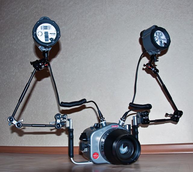 Sealux Nikon D70 + Double Inon Z-240